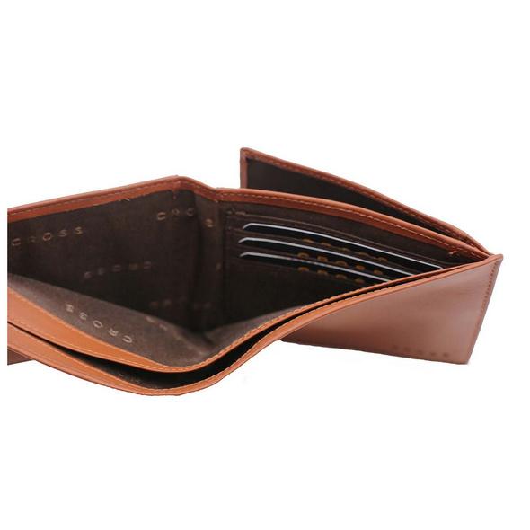 Cross Geldbörse Vachetta RFID in Geschenkbox 12CS Quer cognac