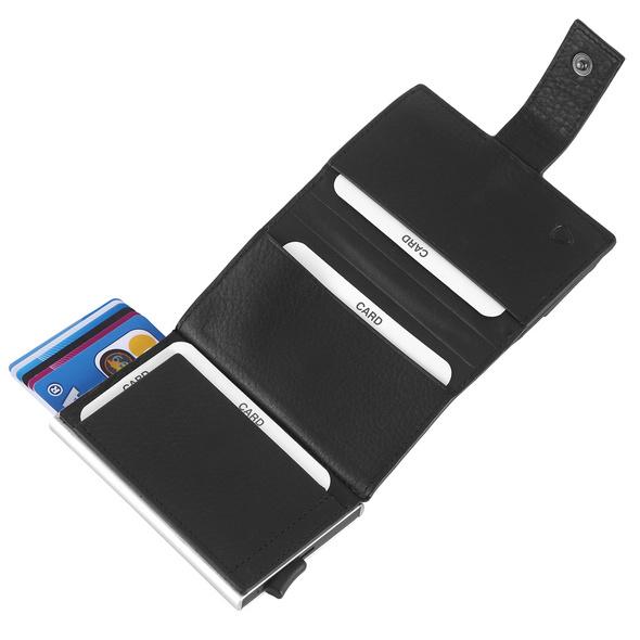 Strellson Kreditkartenetui Carter c-three e-cage SV8F black