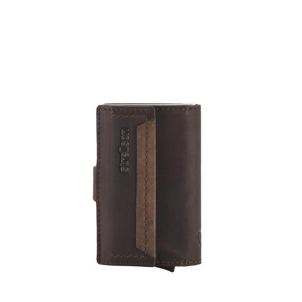 Strellson Kreditkartenetui Camden c-three e-cage SV8F dark brown