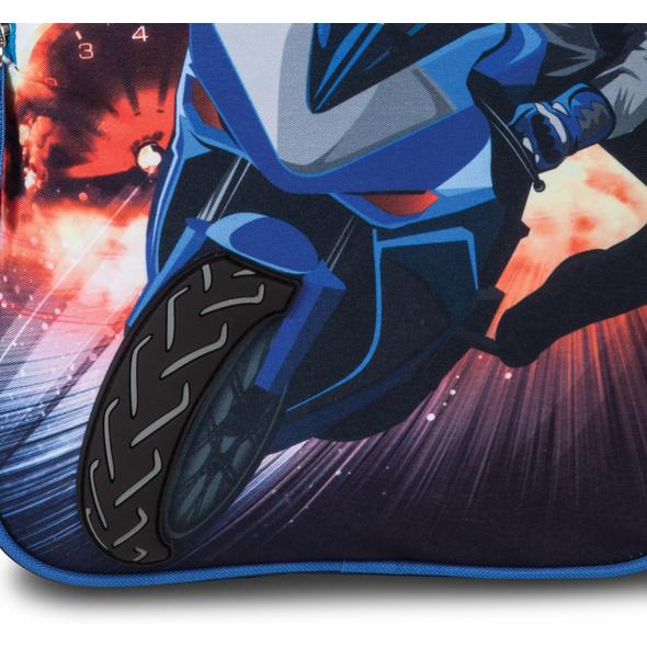 Fabrizio Kinder Rucksack Top Speed 3D dunkelblau