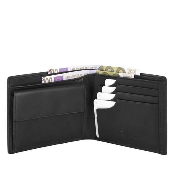 Esquire Geldbörse Herren Logo 10 22941 schwarz