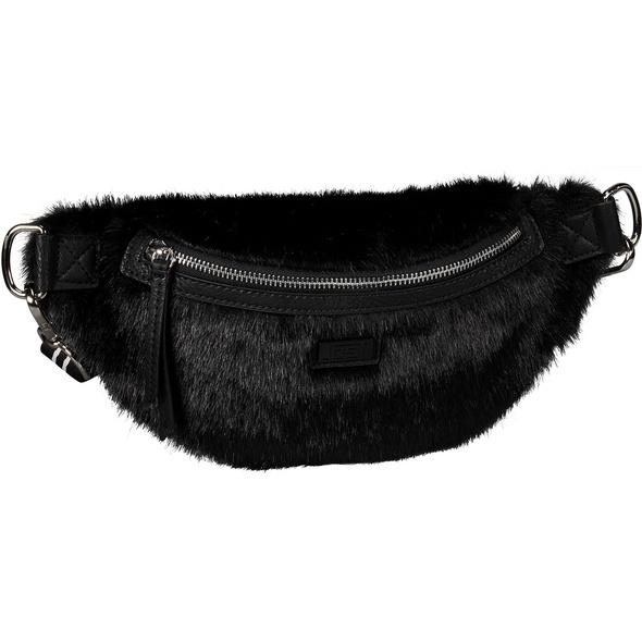 Jost Bauchtasche Leo / Faux Fur schwarz