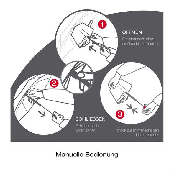 Knirps Taschenschirm T.050 Medium Manual schwarz