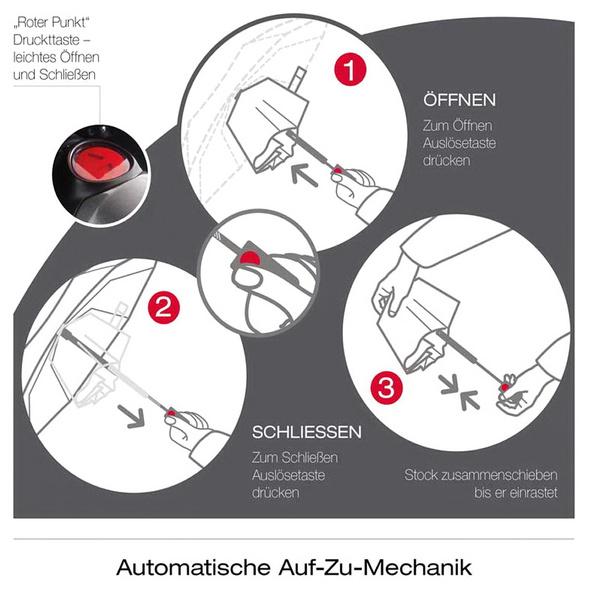 Knirps Taschenschirm Big Duomatic Men's Print black stripes