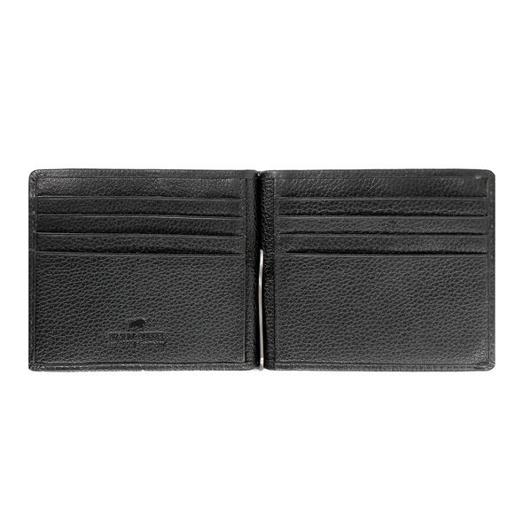 Braun Büffel Querbörse Dollarclip Prato 8CS schwarz