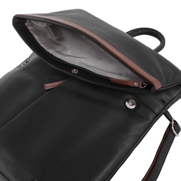OKSO Damenrucksack 3203 schwarz/braun