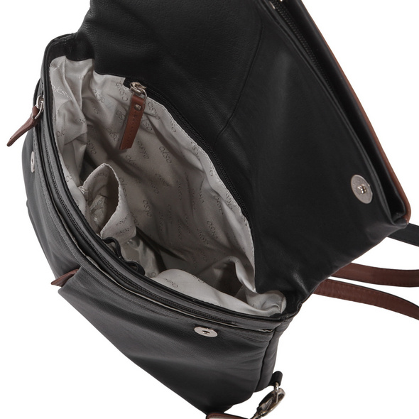 OKSO Damenrucksack 3203 schwarz/rot