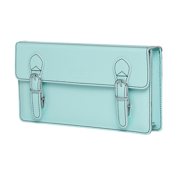 CEEVEE Leather Clutch Catchall Night azure