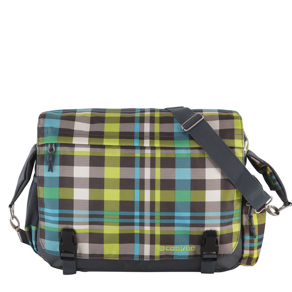 CEEVEE Leather Messenger Bag Manchester caro green