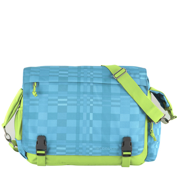 CEEVEE Leather Messenger Bag Manchester turquoise/green