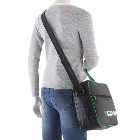 CEEVEE Leather Umhängetasche Retrobag grün