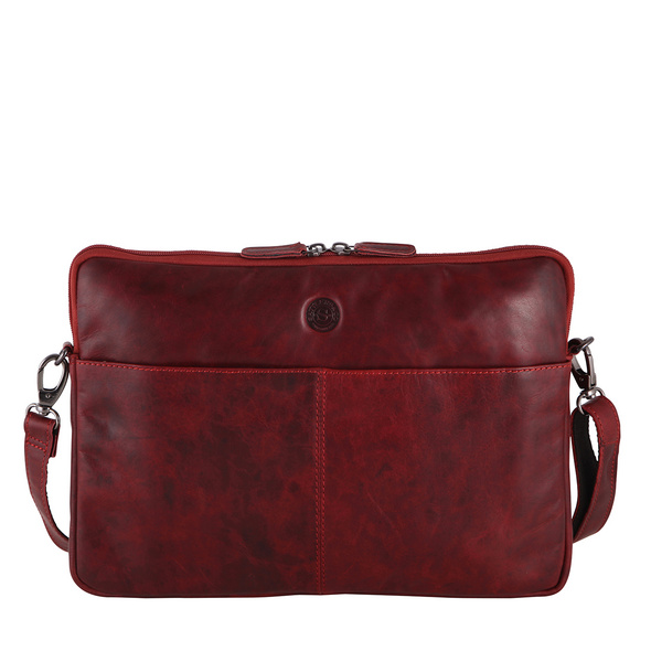 """Sattlers & Co. Laptophülle The Barn Mick M 15"""" red"""