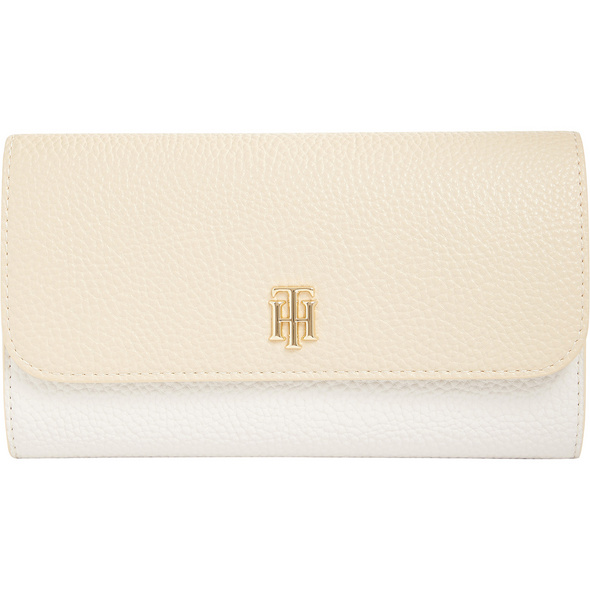 Tommy Hilfiger Querbörse Damen TH Essence LRG Flap Wallet CB beige