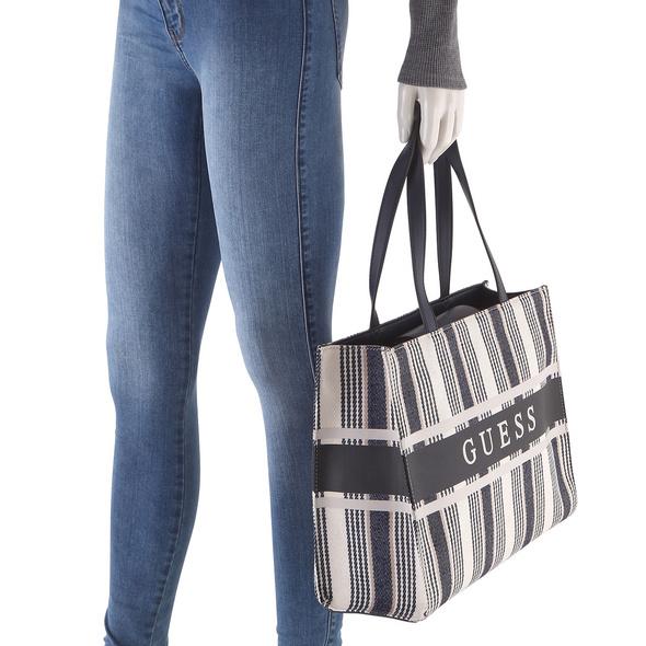 Guess Shopper Monique Tote blue stripe
