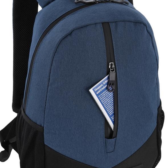 Rada Rucksack College RS/33 Frontzip 2 blue 2 tone cognac