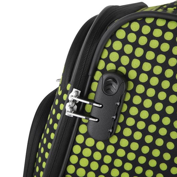 Rada Reisetrolley Rainbow T1/S 55cm lime green dots
