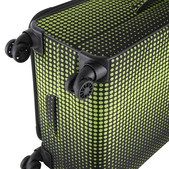 Rada Reisetrolley Rainbow T1/S 77cm lime green dots