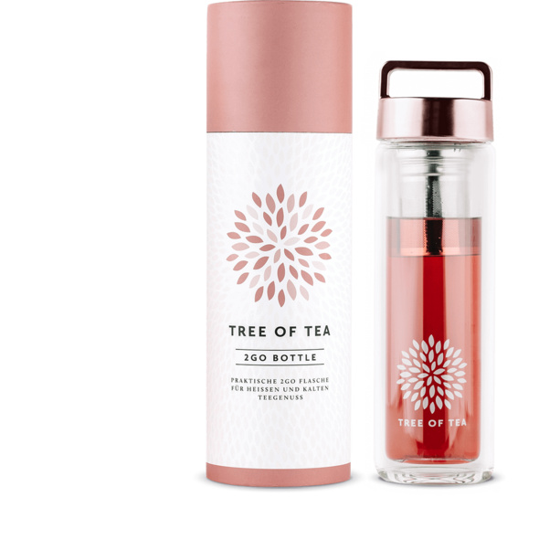 Tree of Tea 2go-Bottle, Roségold
