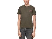 Flammgarnshirt mit Print-Detail - T-Shirt