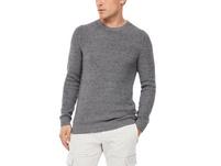 Melierter Baumwoll-Pullover - Strick-Pullover