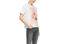 Print-Shirt mit Pailletten - Jerseyshirt