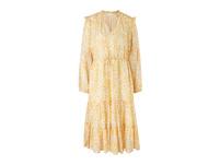 Boho-Stufenkleid mit Glitzerstreifen - Baumwollmix-Kleid