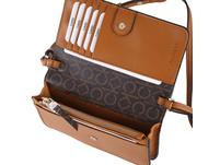 Calvin Klein Umhängetasche Flap Wallet Mini Bag cognac