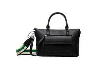 Desigual Kurzgriff Tasche Bols Embossed Half Logo Padua negro
