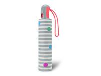 Esprit Taschenschirm Easymatic light dots & stripes grey