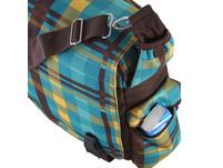 CEEVEE Leather Messenger Bag Manchester green/blue