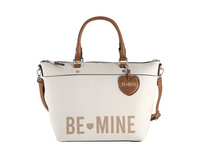 Be Mine Kurzgriff Tasche Judy ecru logo