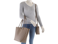 Guess Shopper Alby Toggle Tote Bag in Bag latte logo