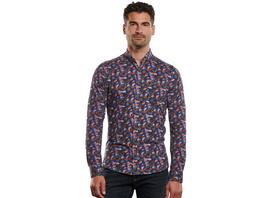 Jersey Hemd gemustert