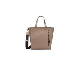 Shopper mit Kontrast-Details - Kunstleder-Tasche