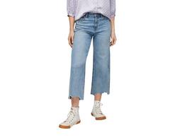 Regular Fit: Culotte im Used Look - Jeans