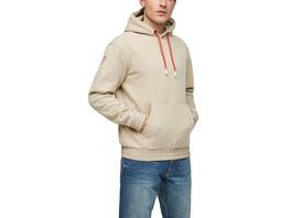 Hoodie mit Details in Nylon-Optik - Sweatshirt