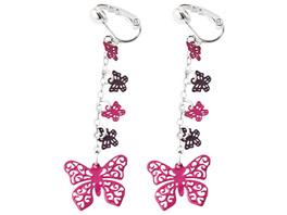 Ohrclip - Pink Butterfly