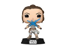 Star Wars - POP!-Vinyl Figur Rey mit zwei Lichtschwertern