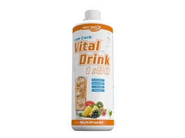 Best Body Nutrition Low Carb Vital Drink 1000ml-Grüntee-Limette