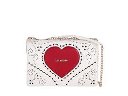 Love Moschino Abendtasche JC4216 bianco/rosso