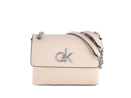 Calvin Klein Abendtasche Re-Lock Conv Crossbody MD light sand