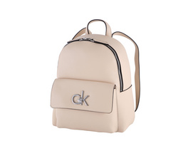 Calvin Klein Damenrucksack Re Lock SM light sand
