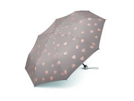 Happy Rain Taschenschirm 53113 Super Mini Herzen valentine grey