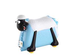 Rada Kindertrolley Shaun das Schaf Ride-on Suitcase blau