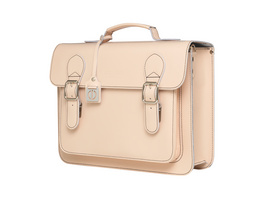 CEEVEE Leather Aktentasche Catchall Business nature light