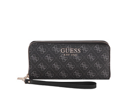 Guess Langbörse Damen Lorenna SLG Large Zip Around coal